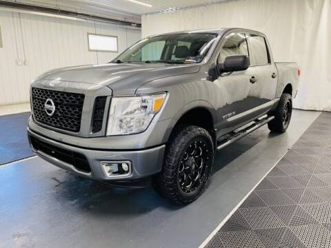2017 Nissan Titan for sale at Monster Motors in Michigan Center MI