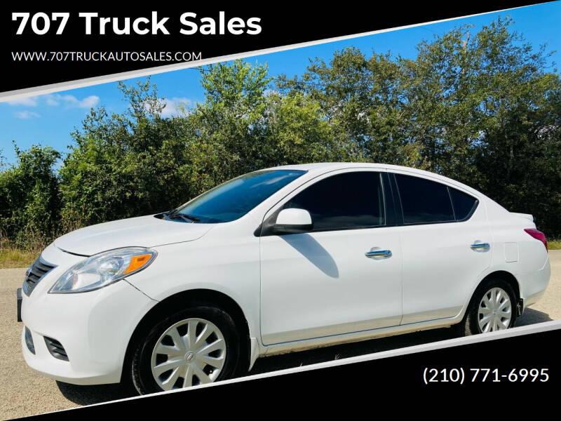 2013 Nissan Versa for sale at 707 Truck Sales in San Antonio TX