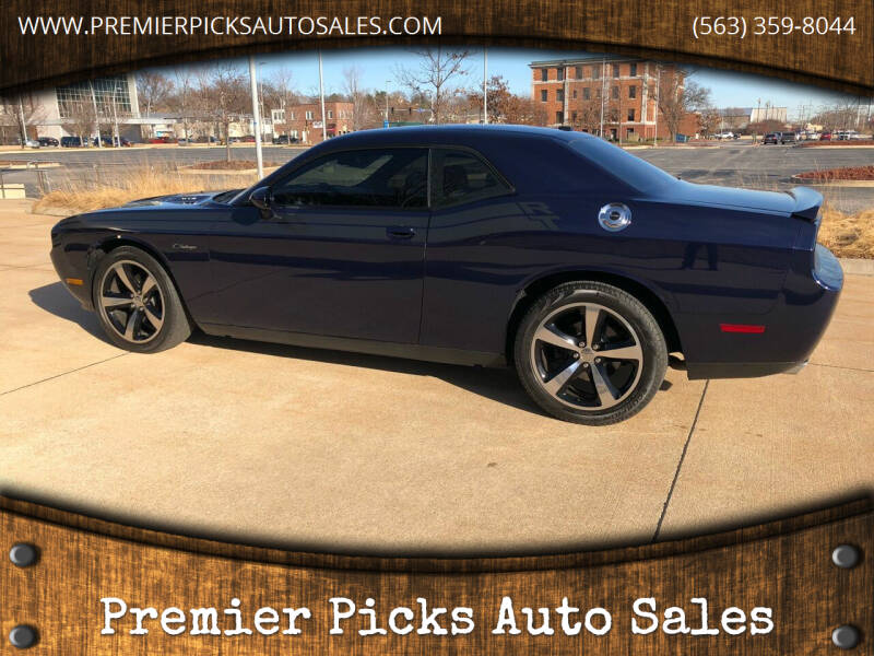 2014 Dodge Challenger for sale at Premier Picks Auto Sales in Bettendorf IA