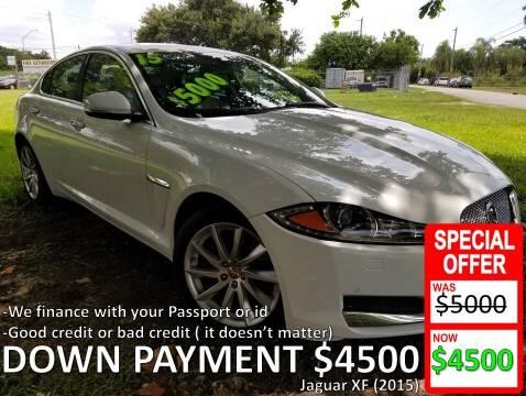 2015 Jaguar XF for sale at AUTO COLLECTION OF SOUTH MIAMI in Miami FL