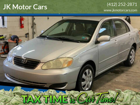 2005 Toyota Corolla for sale at JK Motor Cars in Pittsburgh PA