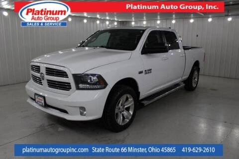 2014 RAM Ram Pickup 1500 for sale at Platinum Auto Group Inc. in Minster OH