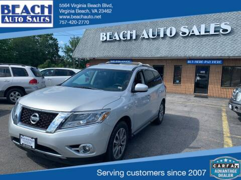 2015 Nissan Pathfinder for sale at Beach Auto Sales in Virginia Beach VA