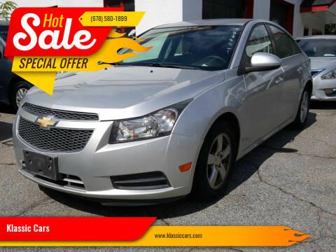 2014 Chevrolet Cruze for sale at Klassic Cars in Lilburn GA
