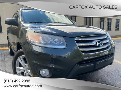 2012 Hyundai Santa Fe for sale at Carfox Auto Sales in Tampa FL