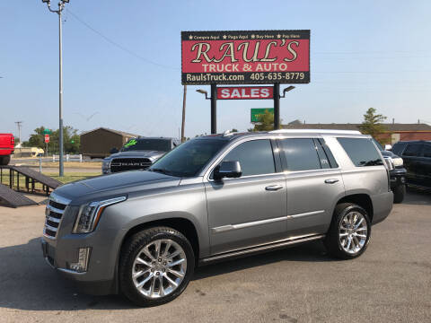 2018 Cadillac Escalade for sale at RAUL'S TRUCK & AUTO SALES, INC in Oklahoma City OK