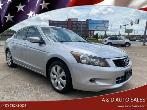 2009 Honda Accord for sale at A & D Auto Sales in Joplin MO