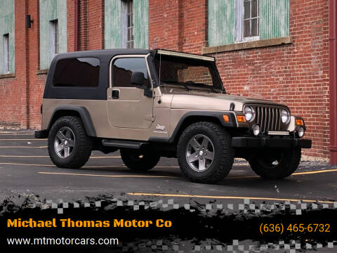 2004 Jeep Wrangler for sale at Michael Thomas Motor Co in Saint Charles MO