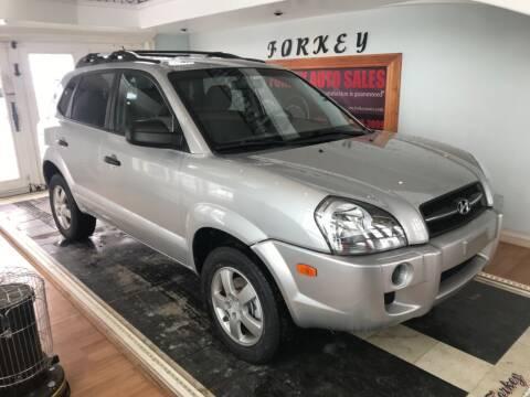 2008 Hyundai Tucson for sale at Forkey Auto & Trailer Sales in La Fargeville NY