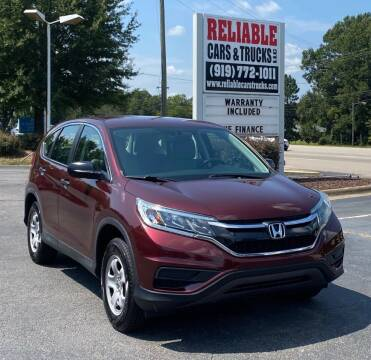 2015 Honda CR-V for sale at Reliable Cars & Trucks LLC in Raleigh NC