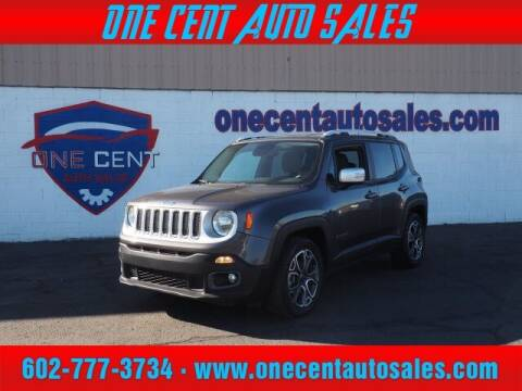 2017 Jeep Renegade for sale at One Cent Auto Sales in Glendale AZ