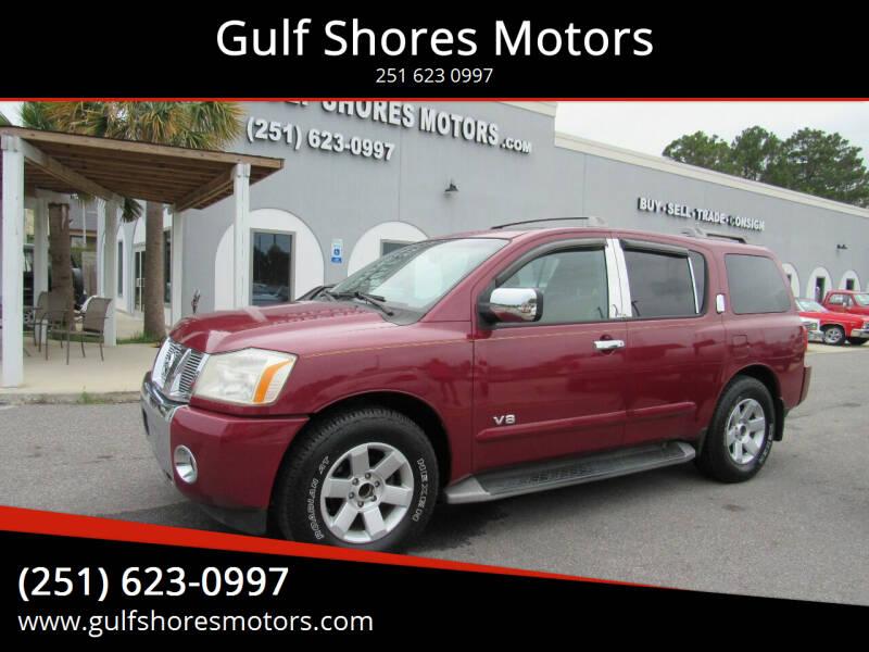 2005 Nissan Armada for sale at Gulf Shores Motors in Gulf Shores AL