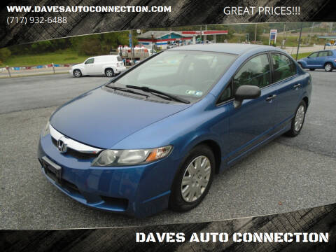 2009 Honda Civic for sale at DAVES AUTO CONNECTION in Etters PA