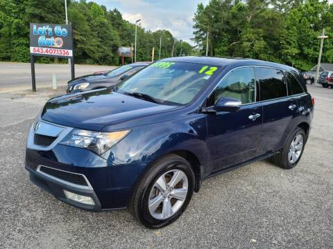 2012 Acura MDX for sale at Let's Go Auto in Florence SC