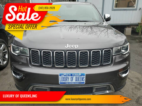 2018 Jeep Grand Cherokee for sale at LUXURY OF QUEENS,INC in Long Island City NY
