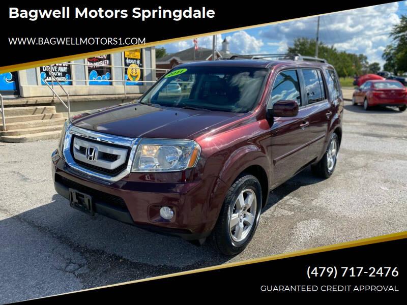 2011 Honda Pilot for sale at Bagwell Motors Springdale in Springdale AR