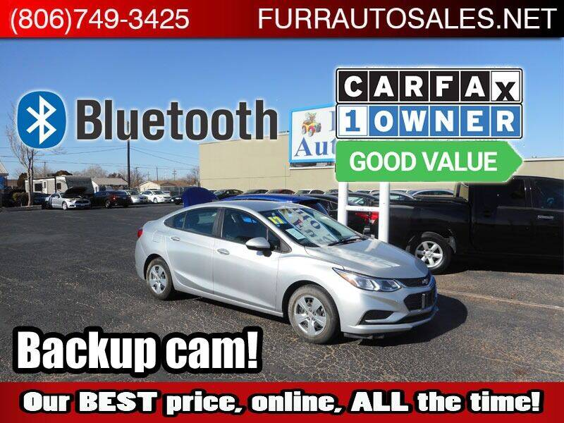 2017 Chevrolet Cruze for sale at FURR AUTO SALES in Lubbock TX