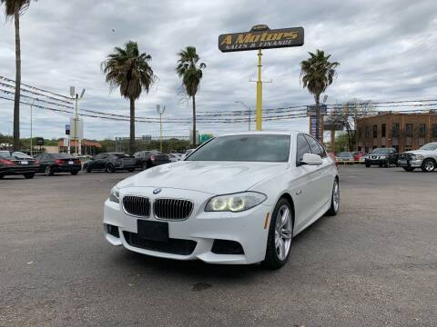 2013 BMW 5 Series for sale at A MOTORS SALES AND FINANCE in San Antonio TX