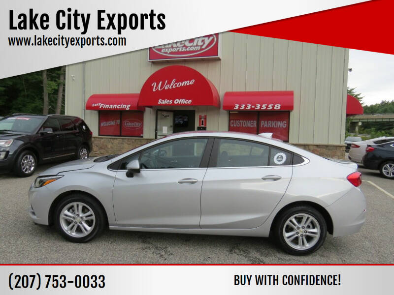2017 Chevrolet Cruze for sale at Lake City Exports in Auburn ME