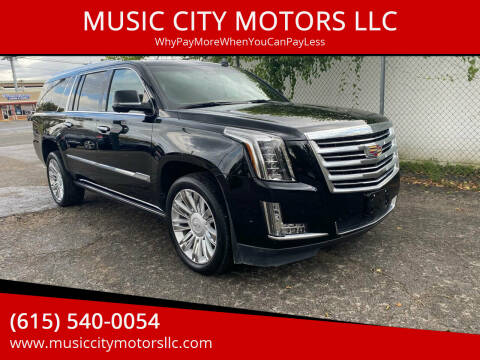 2017 Cadillac Escalade ESV for sale at MUSIC CITY MOTORS LLC in Nashville TN