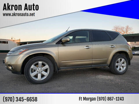 2006 Nissan Murano for sale at Akron Auto in Akron CO