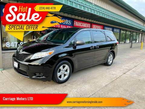 2012 Toyota Sienna for sale at Carriage Motors LTD in Ingleside IL