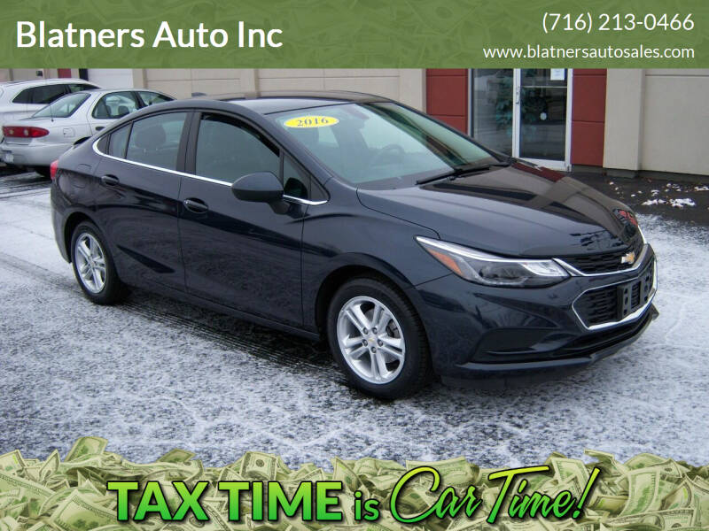 2016 Chevrolet Cruze for sale at Blatners Auto Inc in North Tonawanda NY