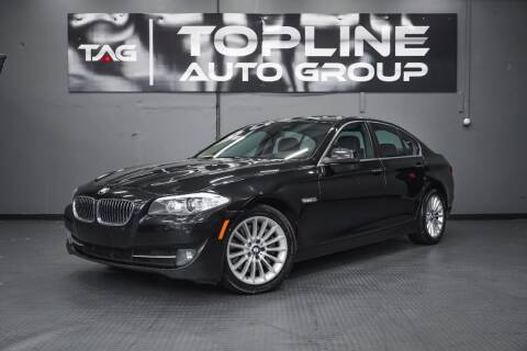 2013 BMW 5 Series for sale at TOPLINE AUTO GROUP in Kent WA