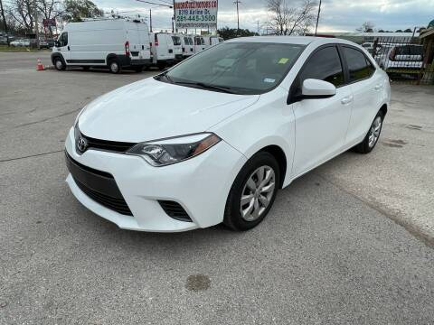 2015 Toyota Corolla for sale at RODRIGUEZ MOTORS CO. in Houston TX