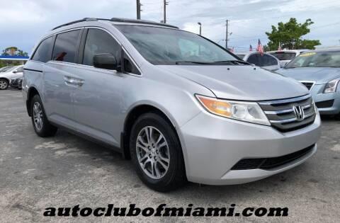 2013 Honda Odyssey for sale at AUTO CLUB OF MIAMI, INC in Miami FL