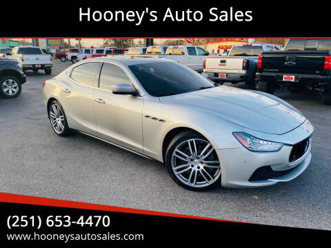2015 Maserati Ghibli for sale at Hooney's Auto Sales in Theodore AL