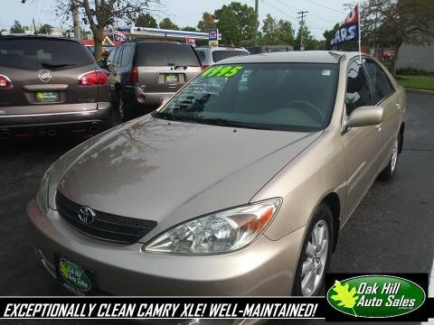 2003 Toyota Camry for sale at Oak Hill Auto Sales of Wooster, LLC in Wooster OH