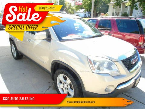 2008 GMC Acadia for sale at C&C AUTO SALES INC in Charles City IA
