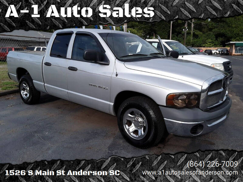 2002 Dodge Ram Pickup 1500 for sale at A-1 Auto Sales in Anderson SC