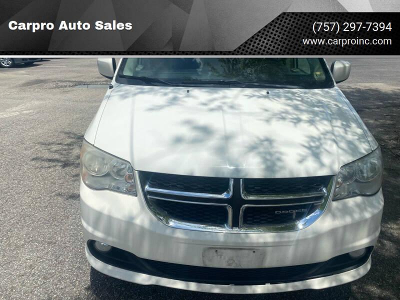2012 Dodge Grand Caravan for sale at Carpro Auto Sales in Chesapeake VA