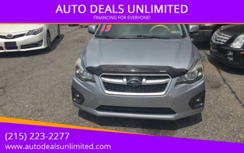 2013 Subaru Impreza for sale at AUTO DEALS UNLIMITED in Philadelphia PA