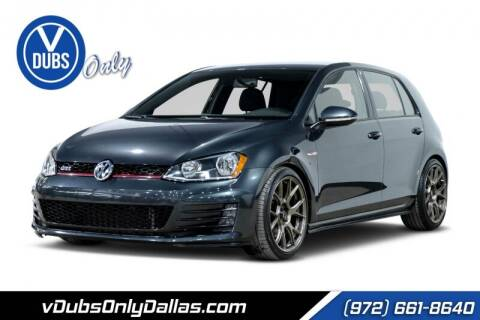 2017 Volkswagen Golf GTI for sale at VDUBS ONLY in Dallas TX