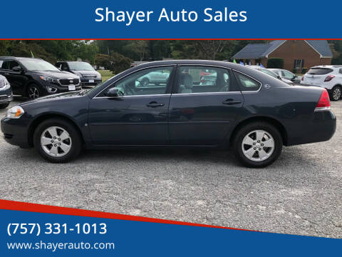 2008 Chevrolet Impala for sale at Shayer Auto Sales in Cape Charles VA