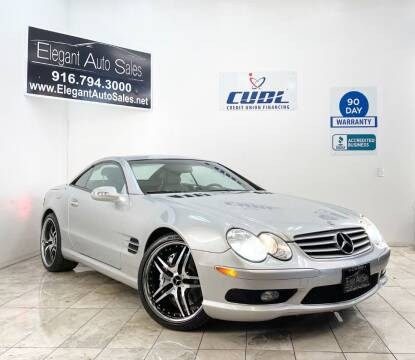 2003 Mercedes-Benz SL-Class for sale at Elegant Auto Sales in Rancho Cordova CA