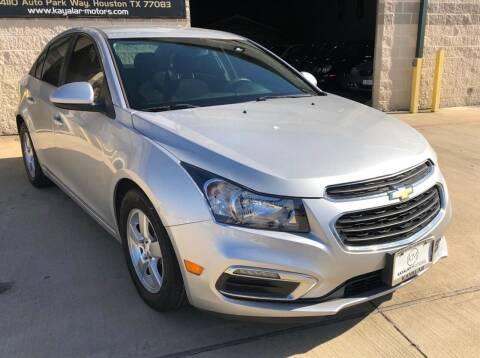2015 Chevrolet Cruze for sale at KAYALAR MOTORS Mechanic in Houston TX
