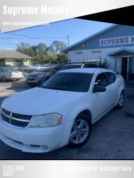 2009 Dodge Avenger for sale at Supreme Motors in Tavares FL