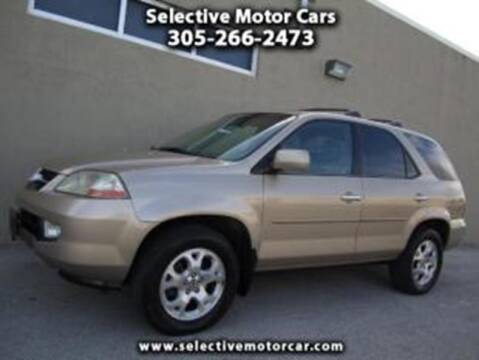 2002 Acura MDX for sale at Selective Motor Cars in Miami FL