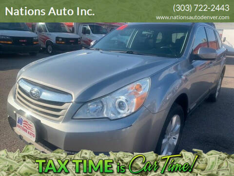 2011 Subaru Outback for sale at Nations Auto Inc. in Denver CO