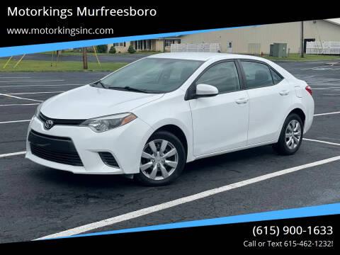 2015 Toyota Corolla for sale at Motorkings Murfreesboro in Murfreesboro TN