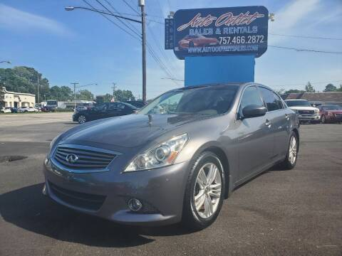 2013 Infiniti G37 Sedan for sale at Auto Outlet Sales and Rentals in Norfolk VA
