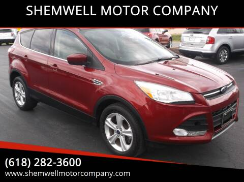 2013 Ford Escape for sale at SHEMWELL MOTOR COMPANY in Red Bud IL