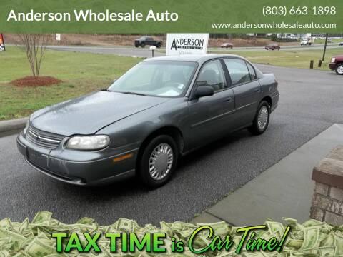2003 Chevrolet Malibu for sale at Anderson Wholesale Auto in Warrenville SC