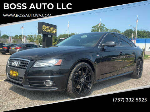 2012 Audi A4 for sale at BOSS AUTO LLC in Norfolk VA