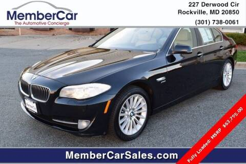 2012 BMW 5 Series for sale at MemberCar in Rockville MD