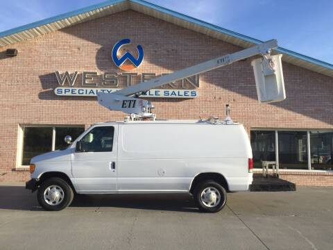 2007 Ford E350 Bucket Van for sale at Western Specialty Vehicle Sales in Braidwood IL